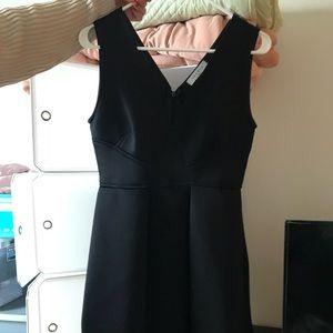 Sandro V-neck short dress.
